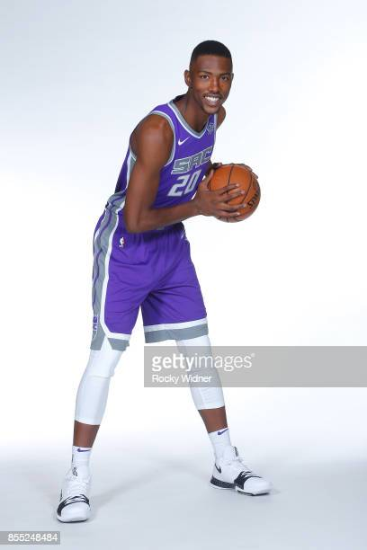 Harry Giles of the Sacramento Kings poses for a portrait during Media Day on September 25 2017 at the Golden 1 Center in Sacramento California NOTE...