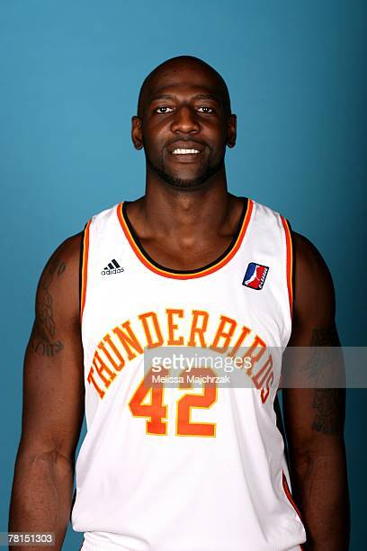 Harry Good of the Albuquerque Thunderbirds poses for a portrait during DLeague media day on November 13 2007 at the Open Court in Lehi Utah NOTE TO...