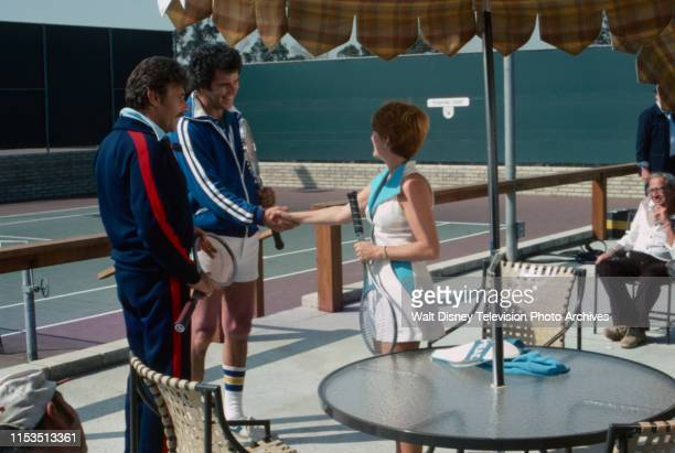 Harry Guardino Jed Allan Nancy Dussault appearing in the ABC tv series 'Good Heavens' episode 'Mixed Doubles'