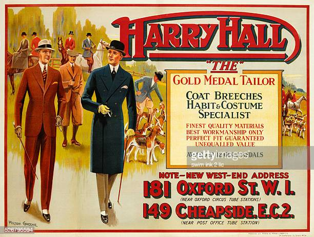 Harry Hall 'The' Gold Medal Tailor Advertisement Poster by Hilton Greene