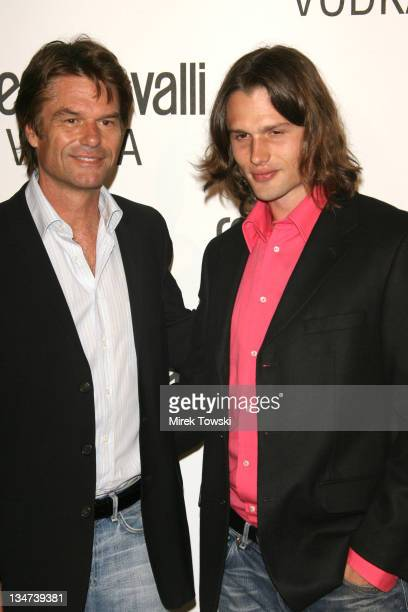 Harry Hamlin and his son Dimitri during Robert Cavalli Vodka brand launch party at Private Residence in Holmby Hills in Holmby Hills California...