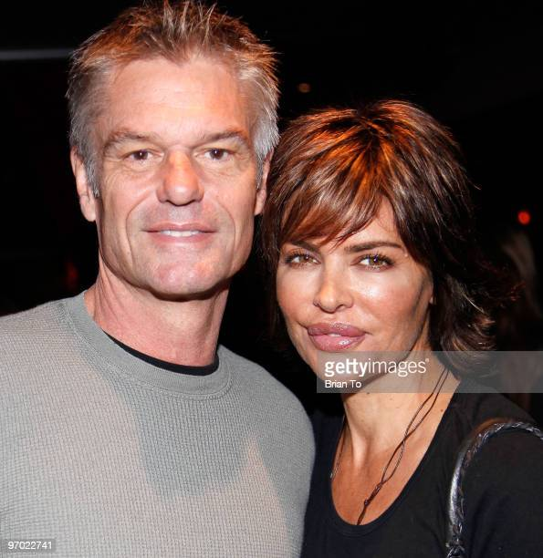 Harry Hamlin and Lisa Rinna attend Best Buddies International's Bowling for Buddies benefit at Lucky Strike Lanes at LA Live on February 21 2010 in...