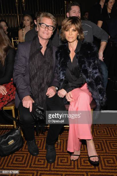 Harry Hamlin and Lisa Rinna attend the Sherri Hill NYFW Fall 2017 Runway Show during New York Fashion Week at Gotham Hall on February 13 2017 in New...