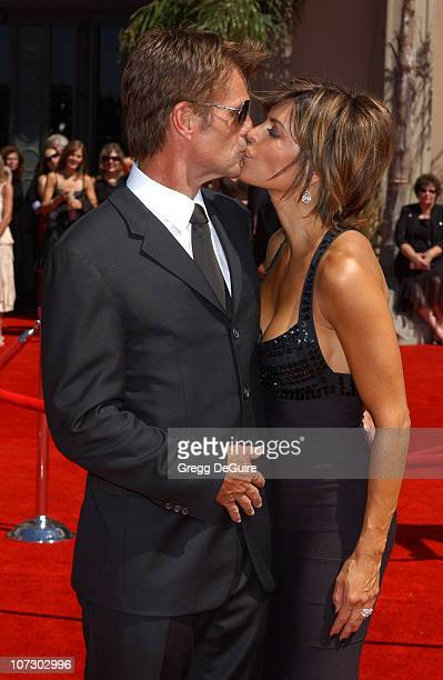Harry Hamlin and Lisa Rinna during 58th Annual Primetime Emmy Awards Arrivals at Shrine Auditorium in Los Angeles California United States