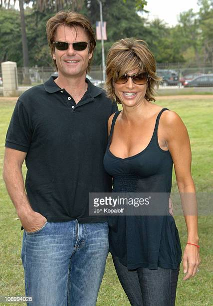 Harry Hamlin and Lisa Rinna during A Time for Heroes Carnival Hosted By Disney Arrivals at Wadsworth Theater in Westwood California United States