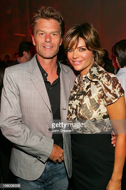 Harry Hamlin and Lisa Rinna during Entertainment Weekly Magazine 4th Annual Pre-Emmy Party - Inside at Republic in Los Angeles, California, United...