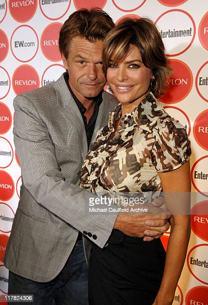 Harry Hamlin and Lisa Rinna during Entertainment Weekly Magazine 4th Annual Pre-Emmy Party - Red Carpet at Republic in Los Angeles, California,...