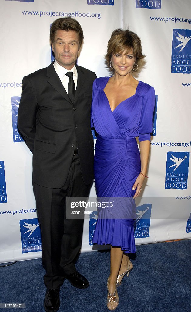 Harry Hamlin and Lisa Rinna during Ryan Seacrest and Tisha Campbell-Martin to Receive Divine Design Man and Woman of Style Awards at Barker Hanger, Santa Monica Air Center in Santa Monica, California, United States.