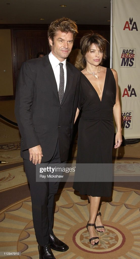 Harry Hamlin and Lisa Rinna during The 9th Annual Race to Erase MS Co-Chaired by Nancy Davis & Tommy Hilfiger - Fashion Show at The Century Plaza Hotel in Century City, California, United States.