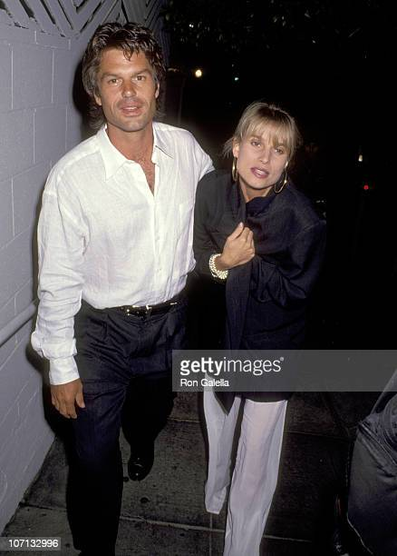 Harry Hamlin and Nicollette Sheridan during Harry Hamlin and Nicollette Sheridan Sighting at Spago in West Hollywood November 10 1990 at Spago in...
