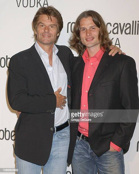 Harry Hamlin and son Dimitri Hamlin during Fashion Designer Roberto Cavalli Celebrates The Launch Of Roberto Cavalli Vodka Arrivals at Private...