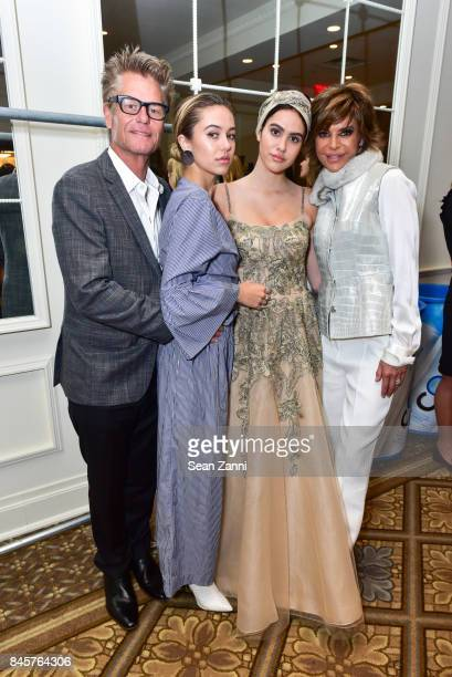 Harry Hamlin Delilah Belle Hamlin Amelia Gray Hamlin and Lisa Rinna attend the Dennis Basso Spring/Summer 2018 Runway Show during New York Fashion...