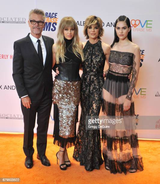 Harry Hamlin Delilah Belle Hamlin Lisa Rinna and Amelia Gray Hamlin arrive at the 24th Annual Race To Erase MS Gala at The Beverly Hilton Hotel on...