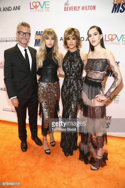 Harry Hamlin Delilah Hamlin Lisa Rinna and Amelia Hamlin attend the 24th Annual Race To Erase MS Gala at The Beverly Hilton Hotel on May 5 2017 in...