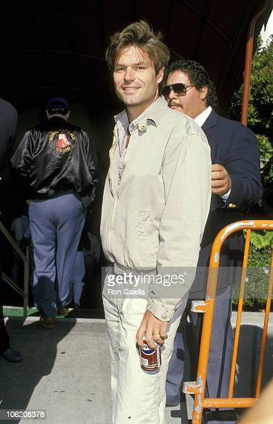 Harry Hamlin during Celebrity Sighting at Los Angeles Lakers Basketball Game June 21 1988 at The Forum in Los Angeles California United States