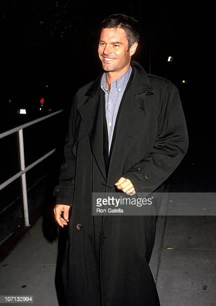 Harry Hamlin during Harry Hamlin and Nicollette Sheridan Sighting at Spago in West Hollywood November 10 1990 at Spago in West Hollywood California...