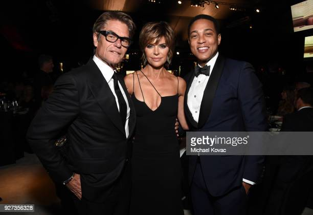 Harry Hamlin Lisa Rinna and Don Lemon attend the 26th annual Elton John AIDS Foundation Academy Awards Viewing Party sponsored by Bulgari celebrating...