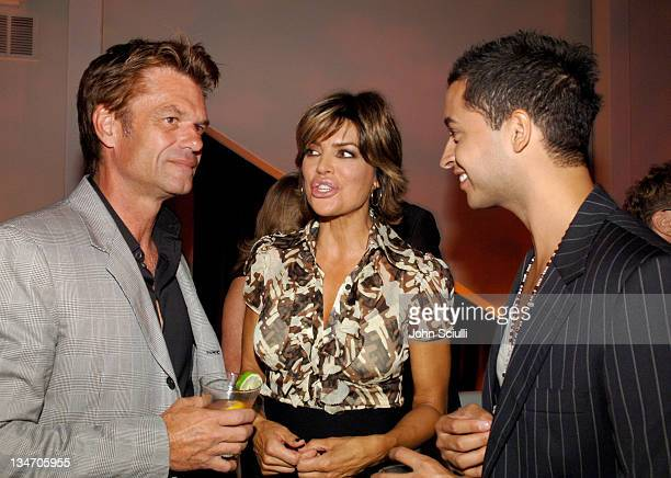 Harry Hamlin Lisa Rinna and Jai Rodriguez during Entertainment Weekly Magazine 4th Annual PreEmmy Party Inside at Republic in Los Angeles California...