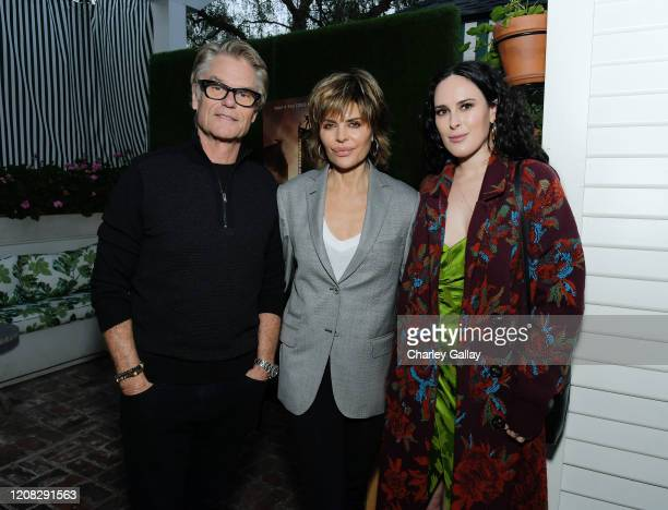 Harry Hamlin Lisa Rinna and Rumer Willis attend Netflix Hollywood Tastemaker at San Vicente Bungalows on February 23 2020 in West Hollywood California