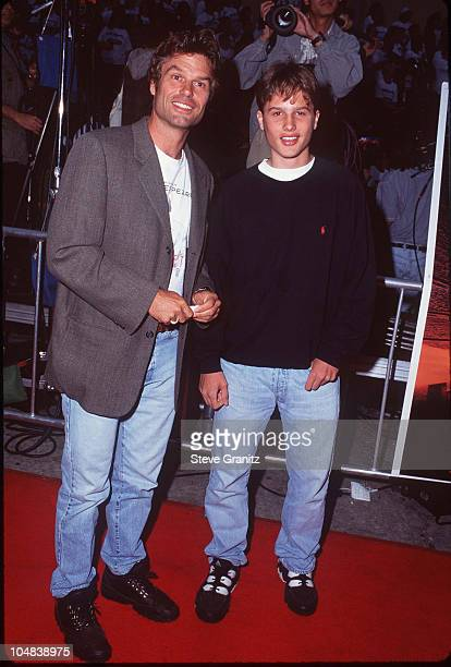 Harry Hamlin with his son Dimitri during the premiere of Independence Day Los Angeles Premiere at Mann Village Theatre in Westwood California United...