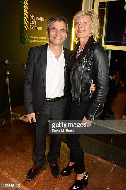 Harry Handelsman and Alison Jackson attend the launch of Manhattan Loft Gardens Harry Handelsman's newest property on September 18 2014 in London...