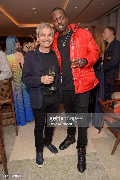 Harry Handelsman and Jamal Edwards attend the launch of Allegra at The Stratford with Perrier Jouet Champagne on September 25 2019 in London England