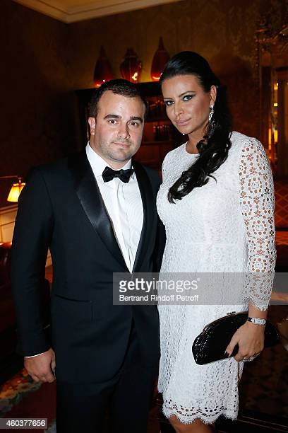 Harry Haysbert Bongo and SAR Princesse Kasia Al Thani attend The Children for Peace Gala at Cercle Interallie on December 12 2014 in Paris France