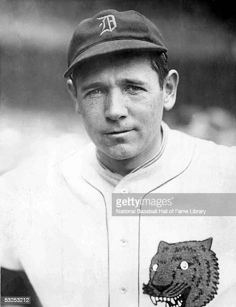Harry Heilmann of the Detroit Tigers looks on during a game Harry Edwin Heilmann played for the Tigers from 19141929