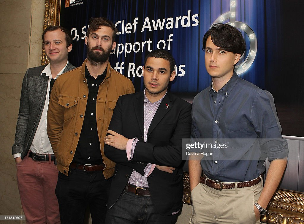 Harry Herd (right) and his band Vampire Weekend attending the Nordoff Robbins Silver Clef Awards at London Hilton on June 28, 2013 in London, England.