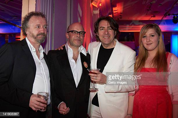 Harry Hill Jonathan Ross and Honey Kinney attend the 2012 Jameson Empire Awards at the Grosvenor House Hotel on March 25 2012 in London England...