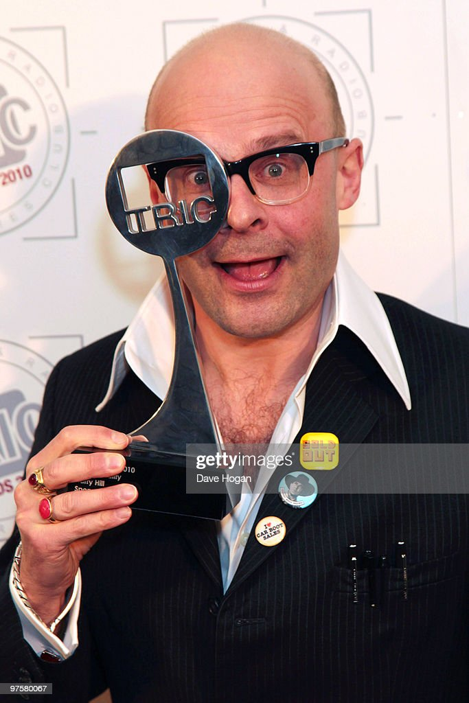 Harry Hill poses with his TV personality award in the press room at the TRIC Awards 2010 held at The Grosvenor House Hotel on March 9, 2010 in London, England.