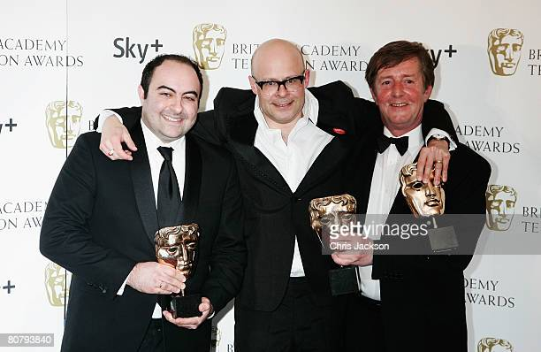 Harry Hill poses with the award for Best Entertainment Programme with Spencer Millman and Peter Orton at the British Academy Television Awards 2008...