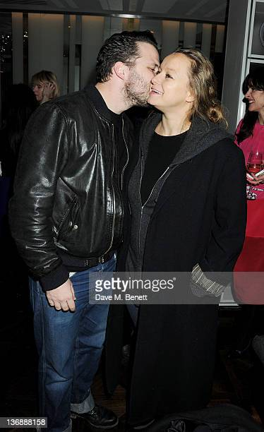 Harry Holm and Samantha Morton attend a screening of The Kills' new music video 'The Last Goodbye' directed by actress Samantha Morton in the...