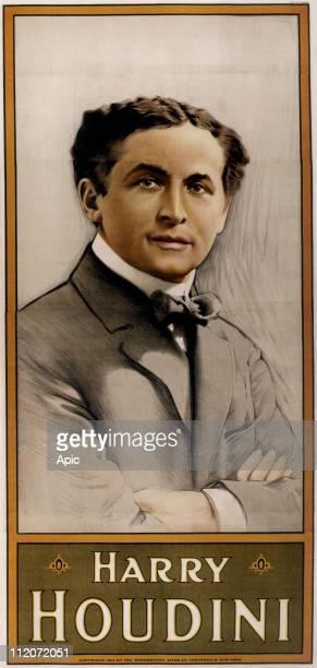 Harry Houdini american conjurer c 1911 poster