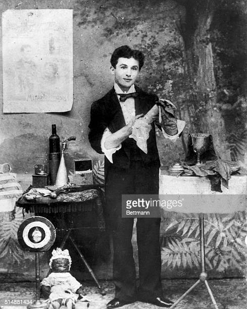 Harry Houdini as a young man about the time he and his wife formed the team of the Houdinis Harry and Bessie Photograph