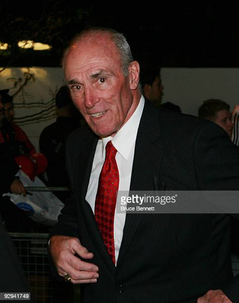 Harry Howell attends the Hockey Hall of Fame Induction ceremony at the Hockey Hall of Fame on November 9 2009 in Toronto Canada