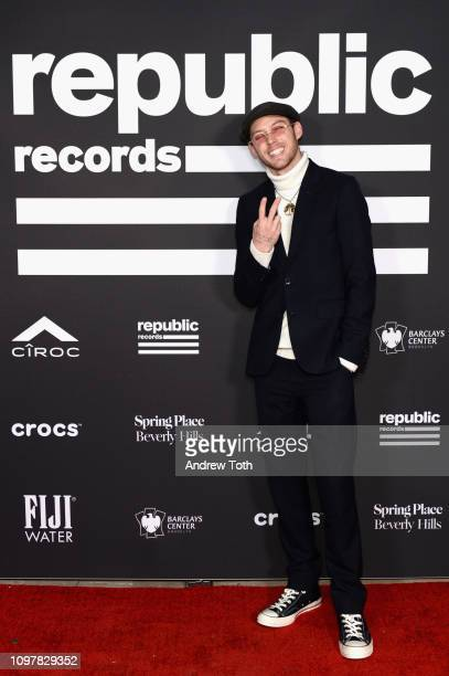 Harry Hudson attends Republic Records Grammy after party at Spring Place Beverly Hills on February 10 2019 in Beverly Hills California