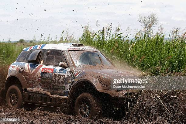 Harry Hunt of Great Britain and Andreas Schulz of Germany in the MINI ALL4 RACING for ALL 4 RACING TEAM compete between Villa Carlos Paz and Termas...