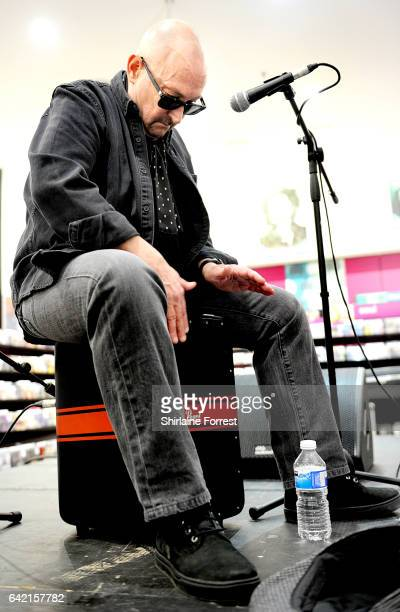 Harry James of Thunder performs live and signs copies of their new album 'Rip it Up' at HMV Manchester on February 16, 2017 in Manchester, United...