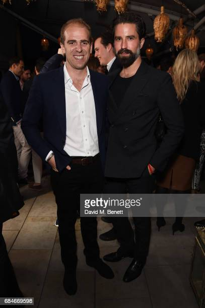 Harry Jarman and Jack Guinness attend the Gentleman's Journal Bermuda 35th America's Cup summer party hosted by Jack Guinness at Ham Yard Hotel on...