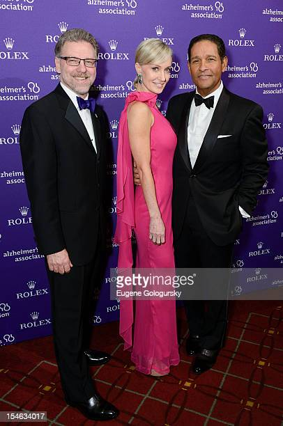 Harry Johns Bryant Gumbel and Hilary Quinlan attend the 2012 Alzheimer Association Rita Hayworth Gala at The Waldorf Astoria on October 23 2012 in...