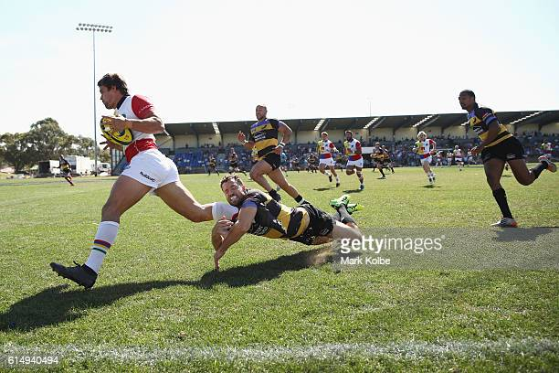 Harry Jones of the Rays makes a break during the NRC Semi Final match between the Sydney Rays and Perth Spirit at Pittwater Park on October 16 2016...