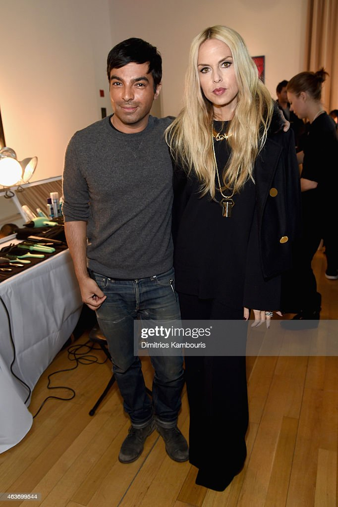 Harry Josh and designer Rachel Zoe attend the Rachel Zoe presentation during Mercedes-Benz Fashion Week Fall 2015 at Affirmation Arts on February 17, 2015 in New York City.