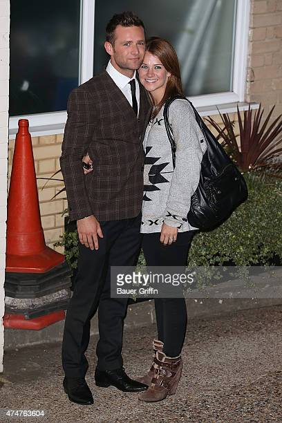 Harry Judd and his girlfriend Izzy Johnston are seen on October 15 2012 in London United Kingdom