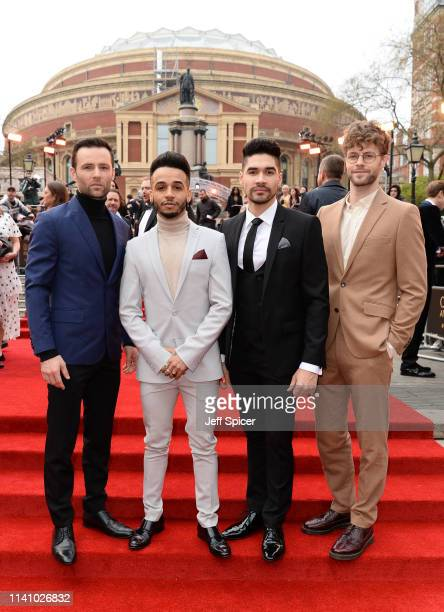 Harry Judd Aston Merrygold Louis Smith and Jay McGuinness attend The Olivier Awards with Mastercard at the Royal Albert Hall on April 07 2019 in...