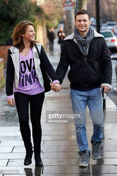Harry Judd of McFly is pictured arriving at Fearne Cotton's house where her live Radio 1 show is being aired from today on December 22 2011 in London...