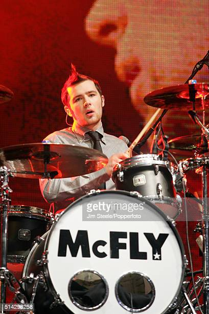 Harry Judd of McFly performing live on stage at the T4 Poll Winners' Party 2005 With Smash Hits at Wembley Arena Pavilion on November 20th 2005 in...