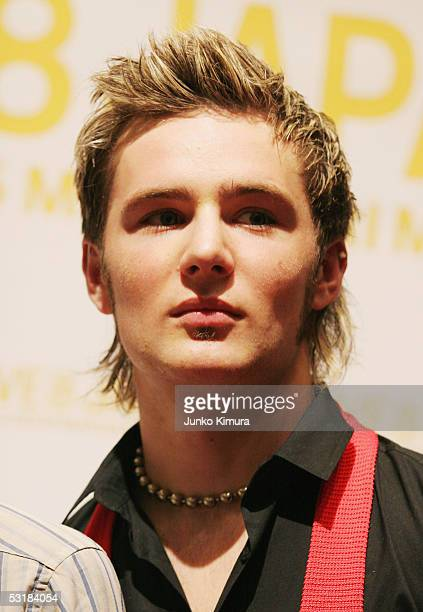 Harry Judd of McFLY poses at a press conference during Live 8 Japan at Makuhari Messe on July 2 2005 in Chiba east of Tokyo Japan The free concert is...