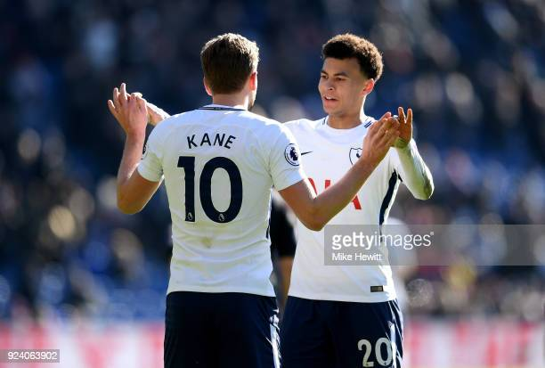 Harry Kane and Dele Alli of Tottenham Hotspur celebrate after the Premier League match between Crystal Palace and Tottenham Hotspur at Selhurst Park...
