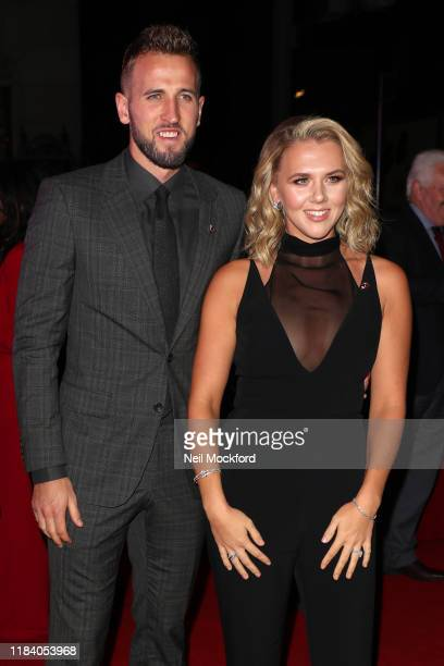 Harry Kane and Kate Kane arrive on the red carpet of Pride of Britain 2019 at Grosvenor House Hotel on October 28 2019 in London England